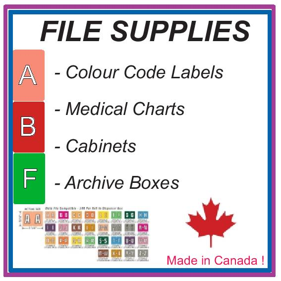 FILE SUPPLIES     MADE BY US ! IN CANADA