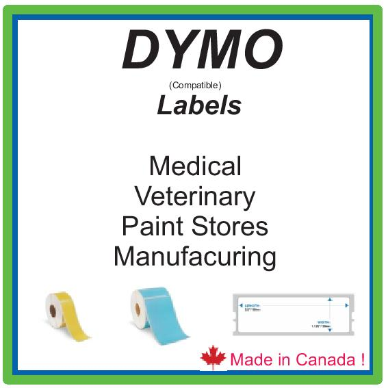 DYMO ( COMP)  LABELS - MADE BY US !     IN CANADA