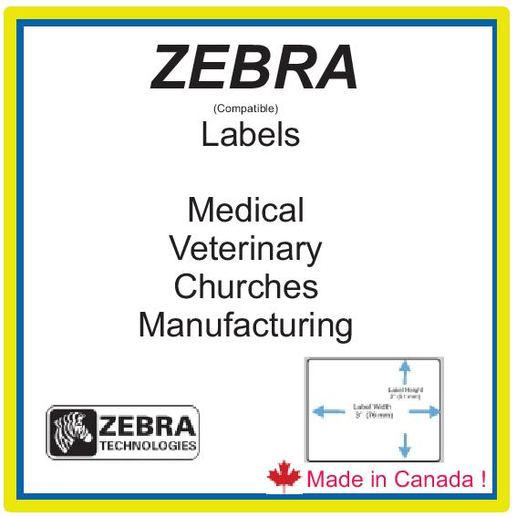 ZEBRA (COMP)   LABELS MADE BY US !  IN CANADA