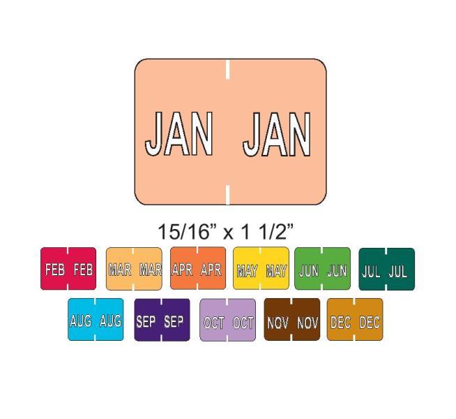 DATAFILE® compatible file folder labels - Color code labels